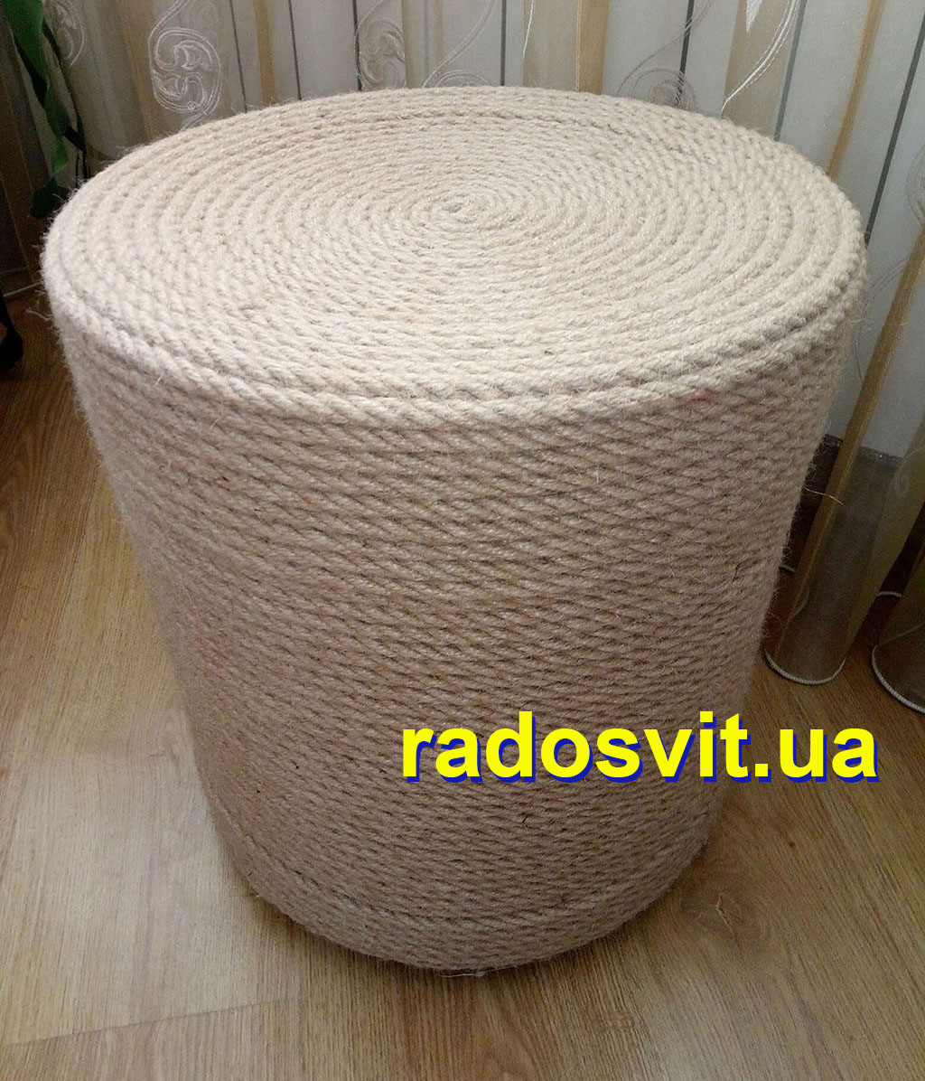 "Chair made from jute ropes ""Radosvit"""