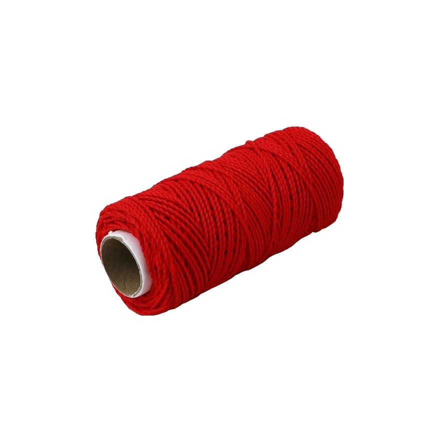 Шнурок поліпропіленовий кручений червоний, 80 метрів - 1