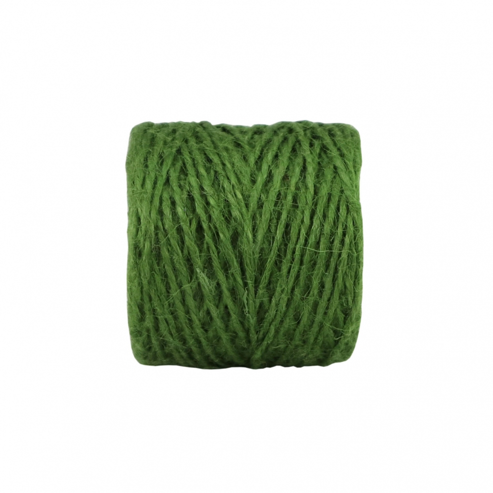 Jute twine in green color, 45 meters - 3