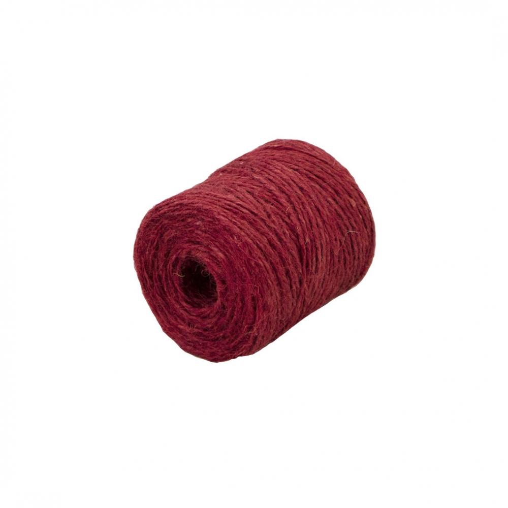 Шпагат джутовий червоний, 90 метрів - 1