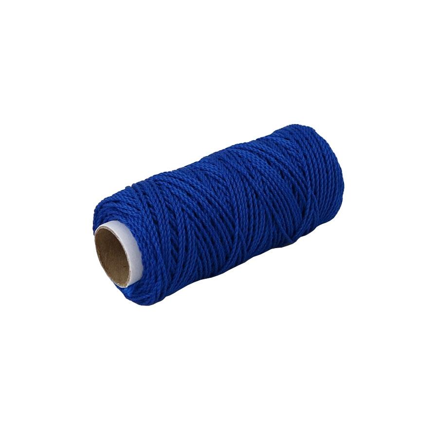 Шнурок поліпропіленовий кручений синій, 80 метрів - 1