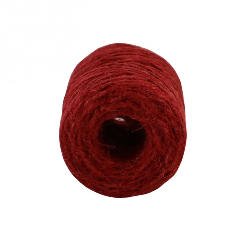 Jute twine in red color, 45 meters - 3