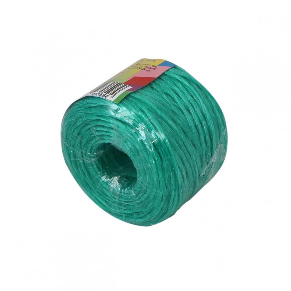 Polypropylene twine green, 100 meters - 4