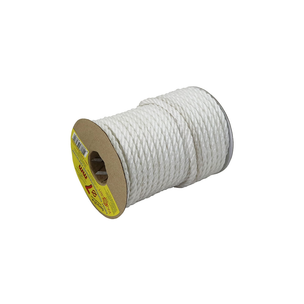 Polypropylene rope diameter 7mm white, 25 meters - 1