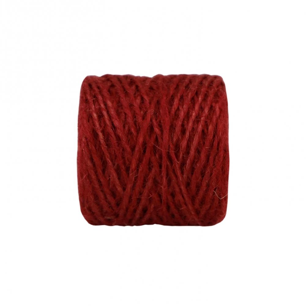 Jute twine in red color, 45 meters - 2