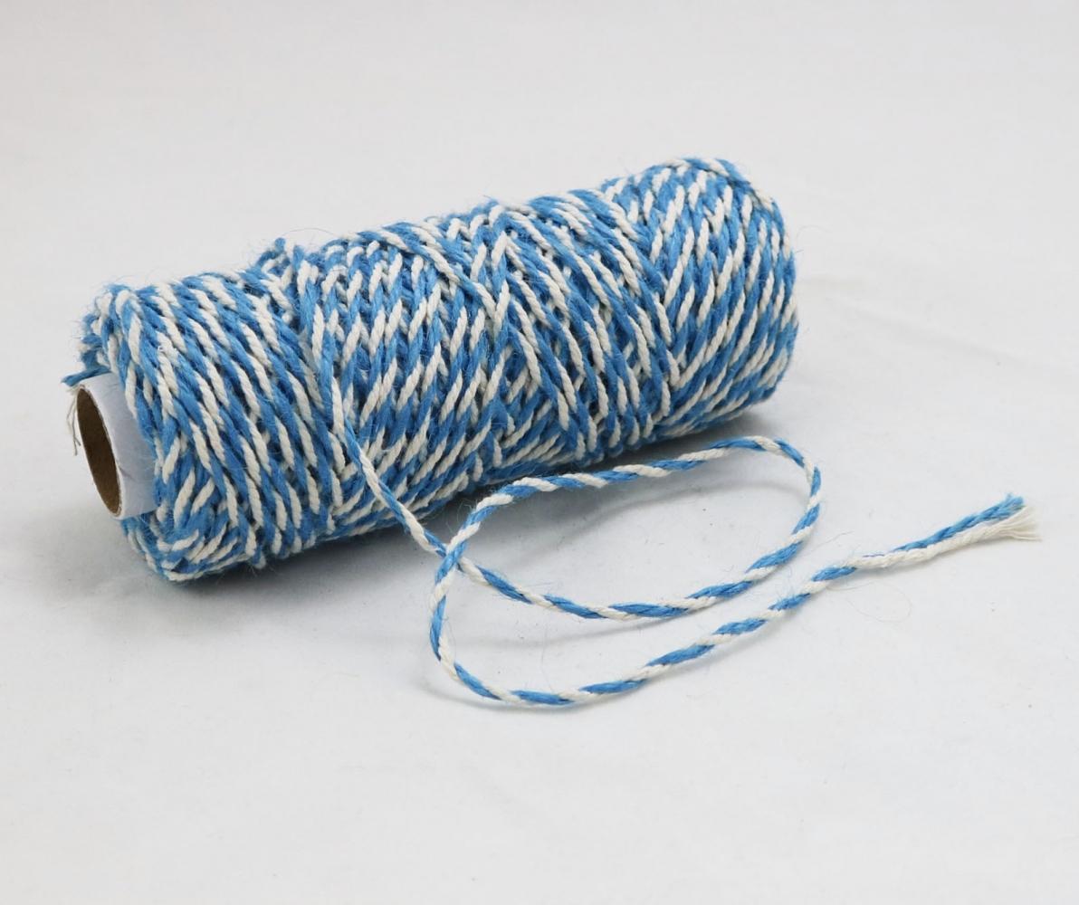 Шнур джут-бавовна блакитно-білий, 50 метрів - 2