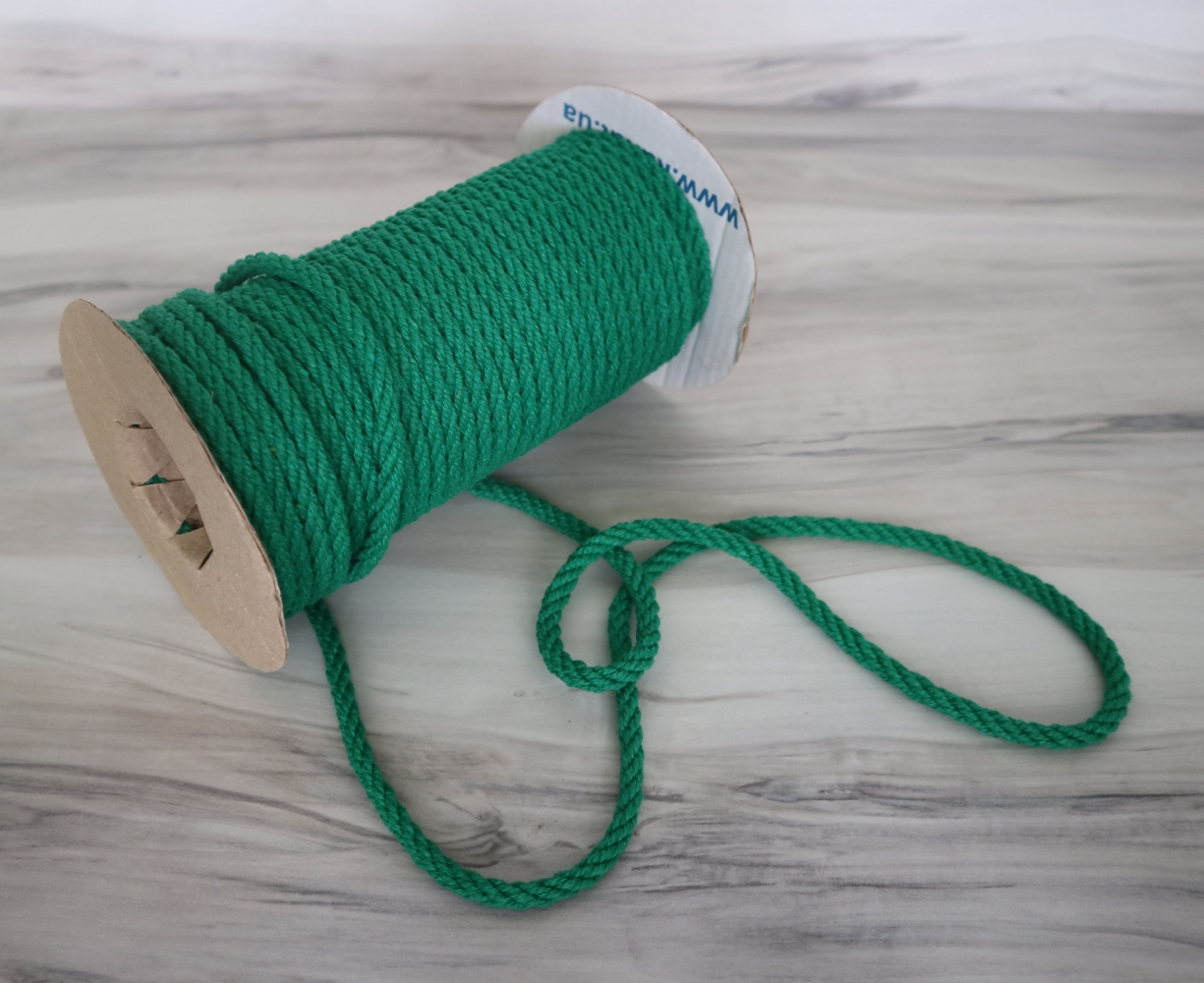 Канат бавовняний зелений, діаметр 5мм, бухта 25м - 1