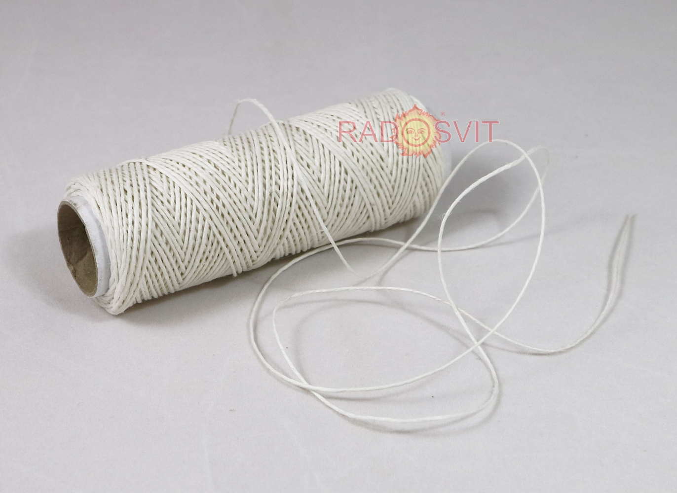 Polished linen twine, white, 50 meters - 1