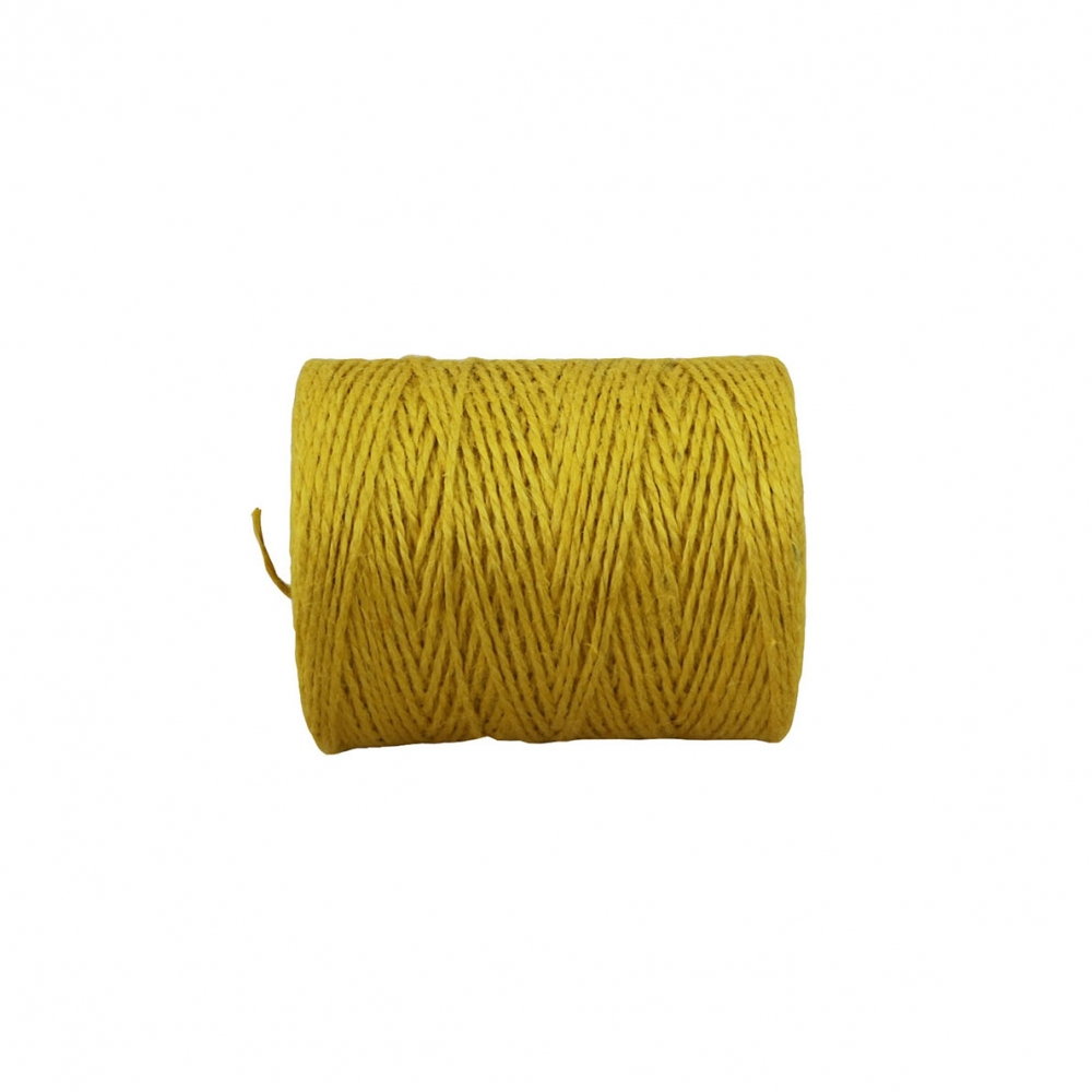 Jute twine yellow, 250 meters - 2