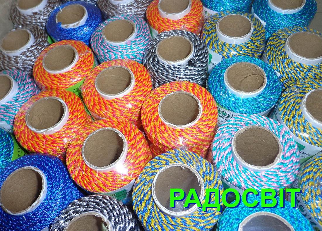 Шнурок поліпропіленовий кольоровий, 80 метрів/патрон - 1