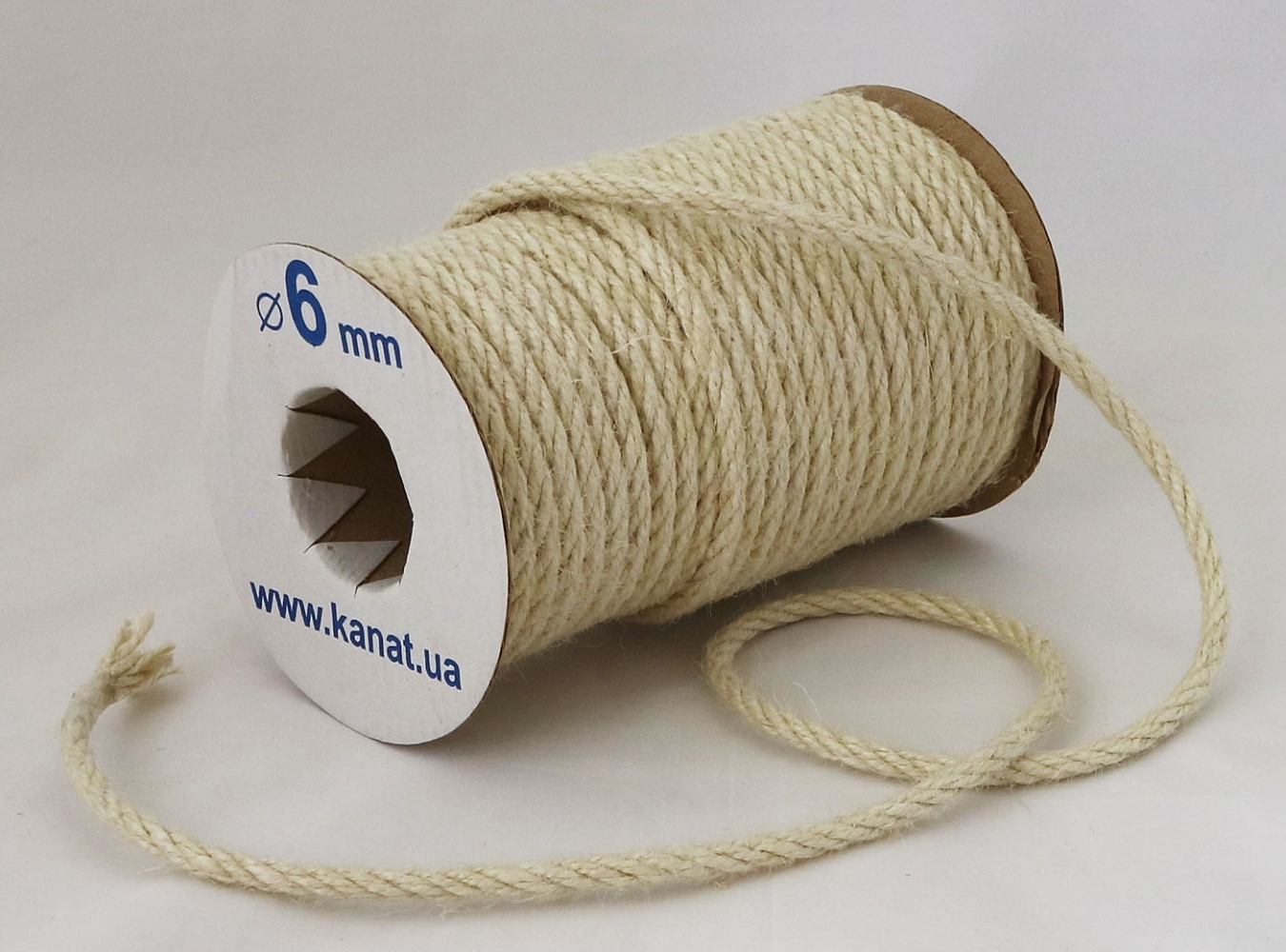 Jute rope, white color, diameter 6mm, coil 25 meters - 1