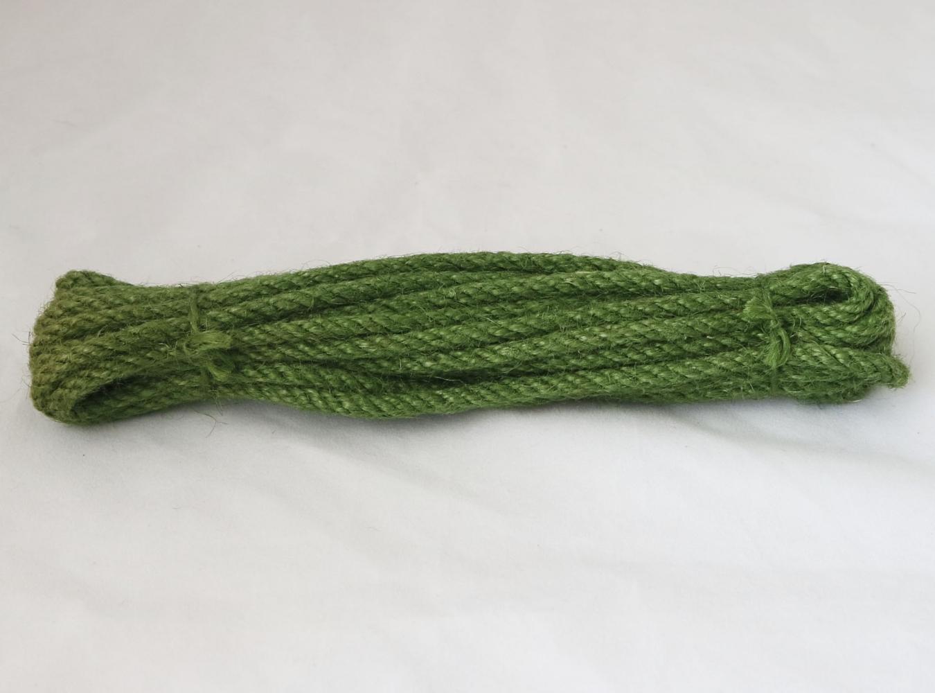 Канат джутовий зелений (лайм) Радосвіт, діаметр 6мм, моток 5 метрів - 1