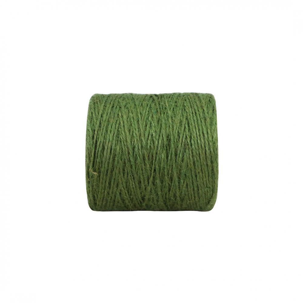 Jute twine green, 350 meters - 2
