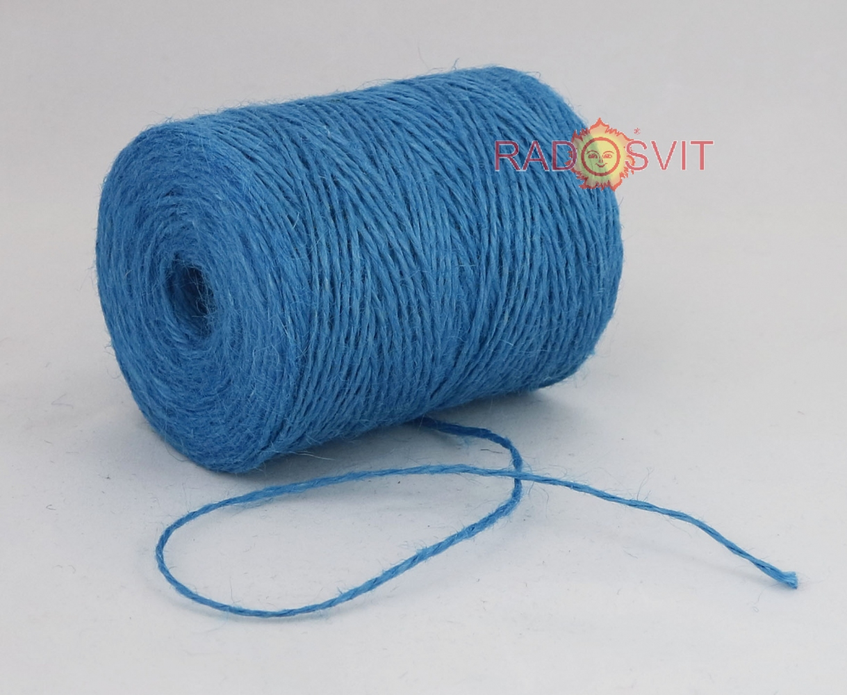 Jute twine light blue, 250 meters - 2