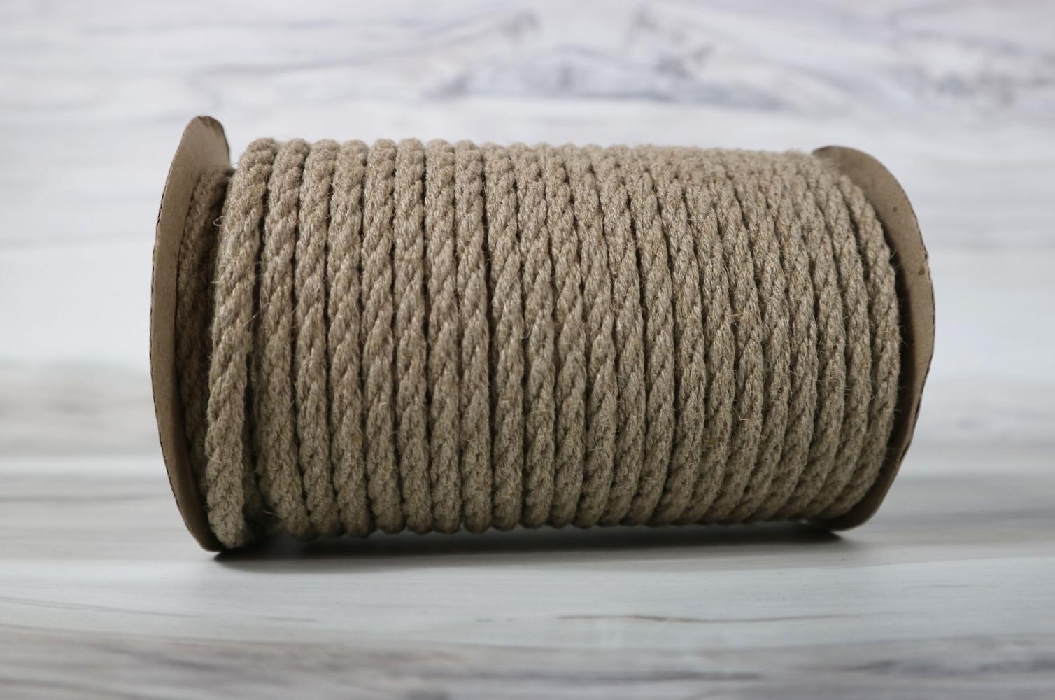 Linen rope diameter 6mm length 25 meters - 1