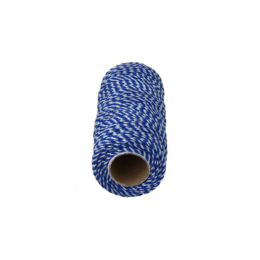 Polypropylene cord white-blue, 80 meters - 2