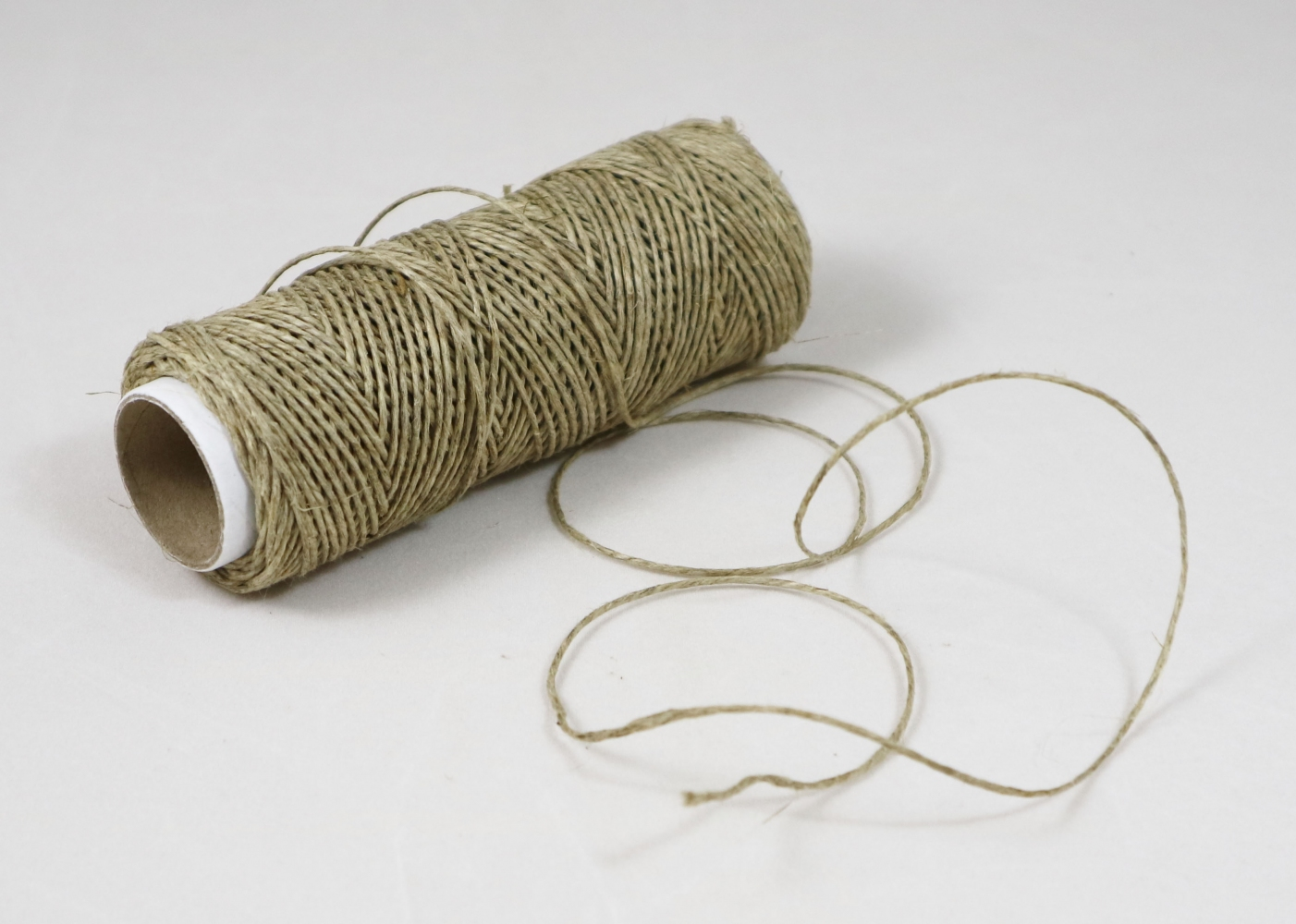 Polished linen twine, natural color, 50 meters - 1