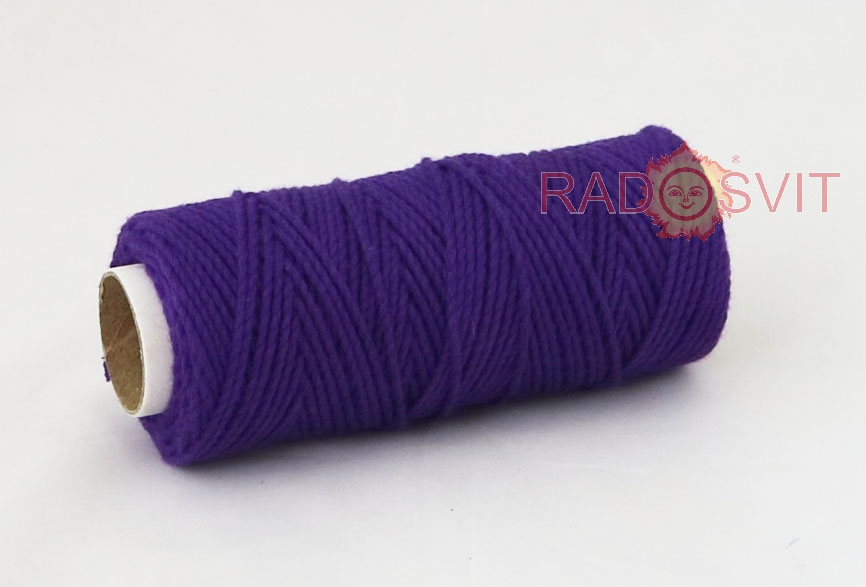 Cotton twine purple, 45 meters - 2