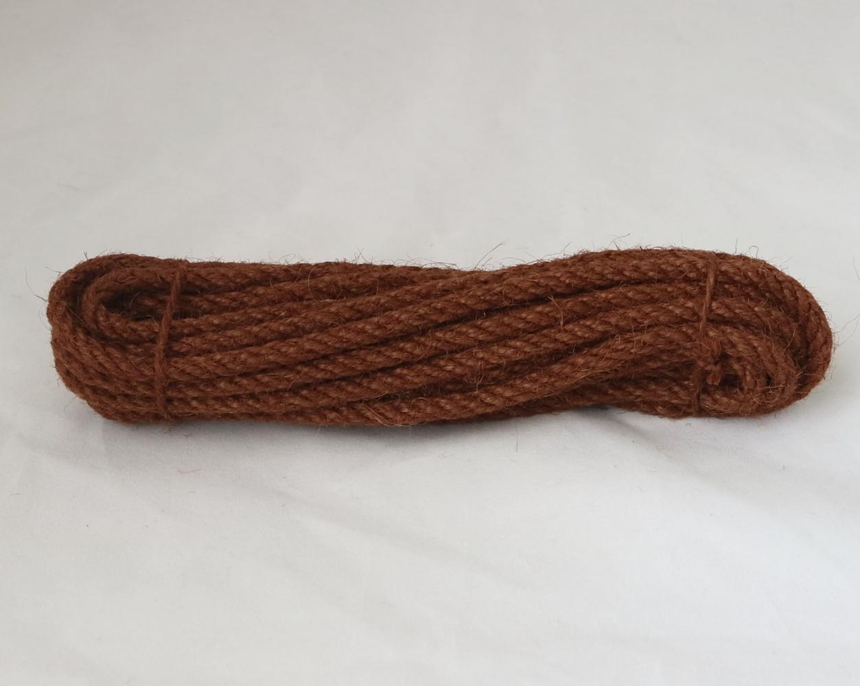 Канат джутовий коричневий Радосвіт, діаметр 6мм, моток 5 метрів - 1