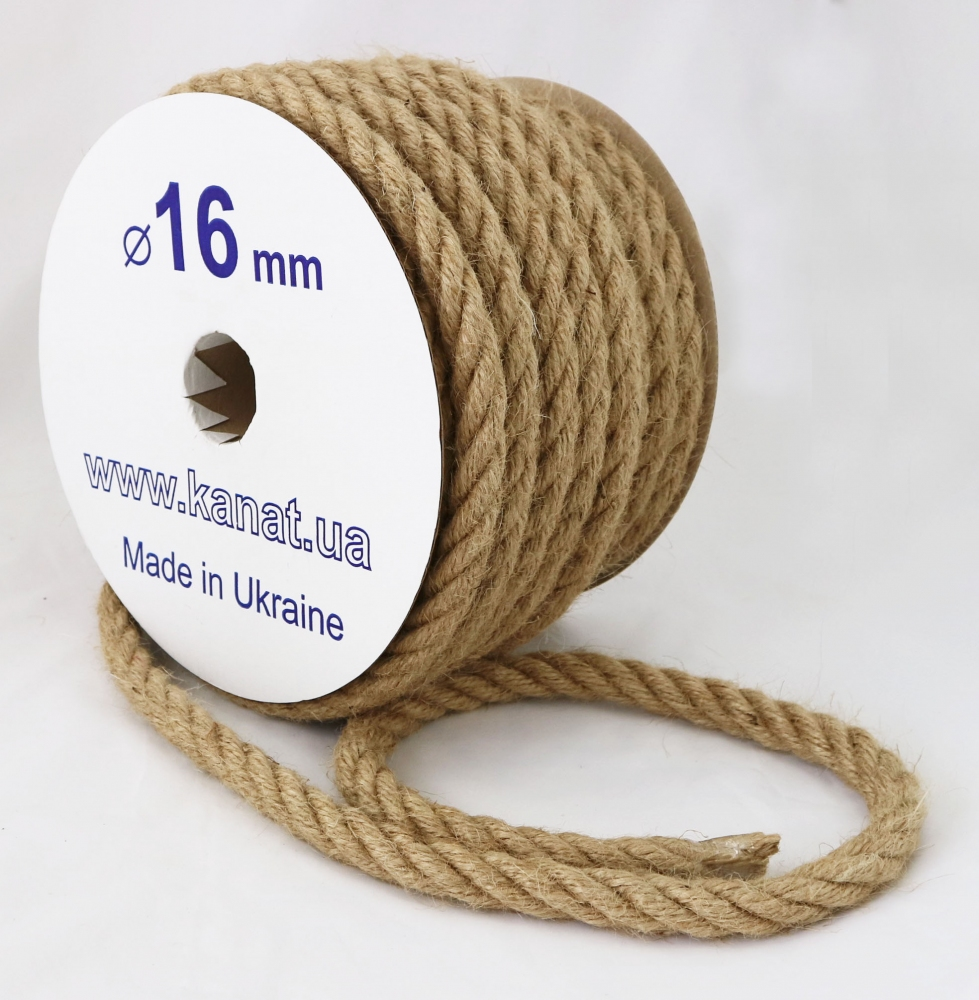 Jute rope Ø 16mm, 25 meters - 1