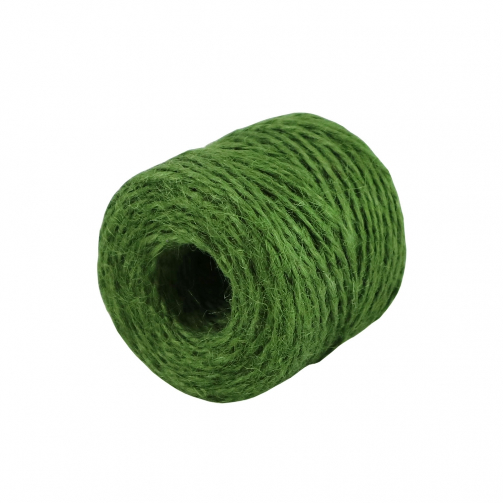 Jute twine in green color, 45 meters - 4