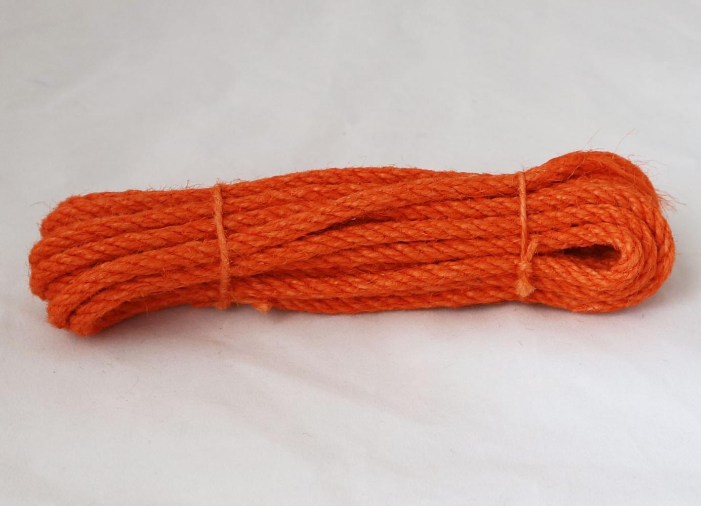 Канат джутовий помаранчевий Радосвіт, діаметр 6мм, моток 5 метрів - 1