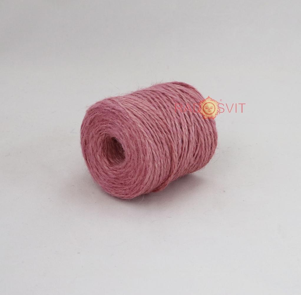Jute twine sweet powder color (light rose), 90 meters - 1