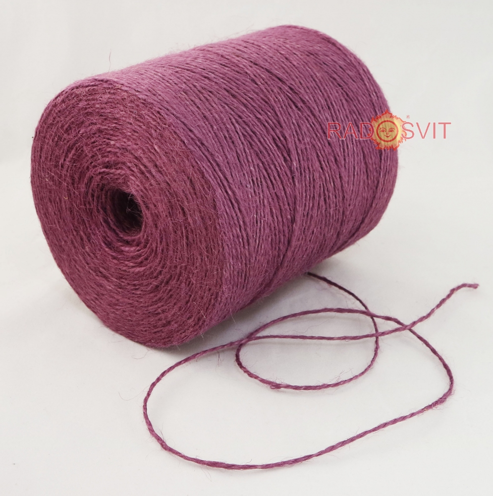 Jute twine in light purple color, 760 meters - 2