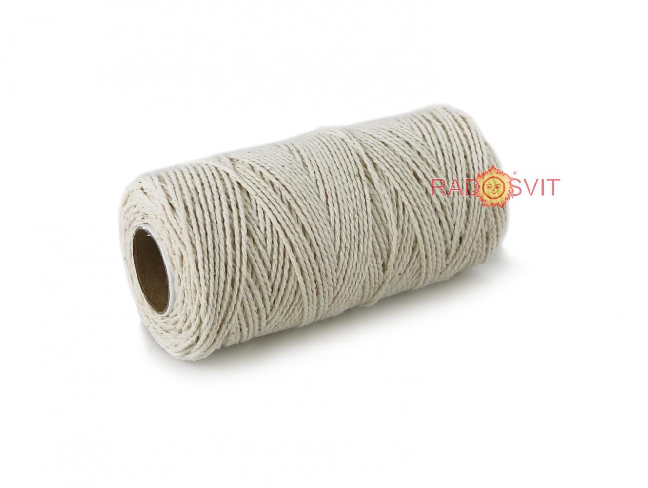 Cotton twine, 120 meters in bobbin - 1