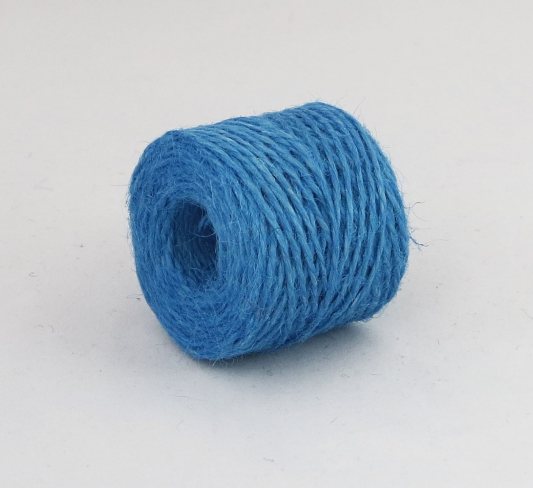 Jute twine in light blue color, 45 meters - 1
