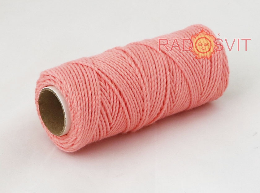 Cotton twine coral, 45 meters - 2