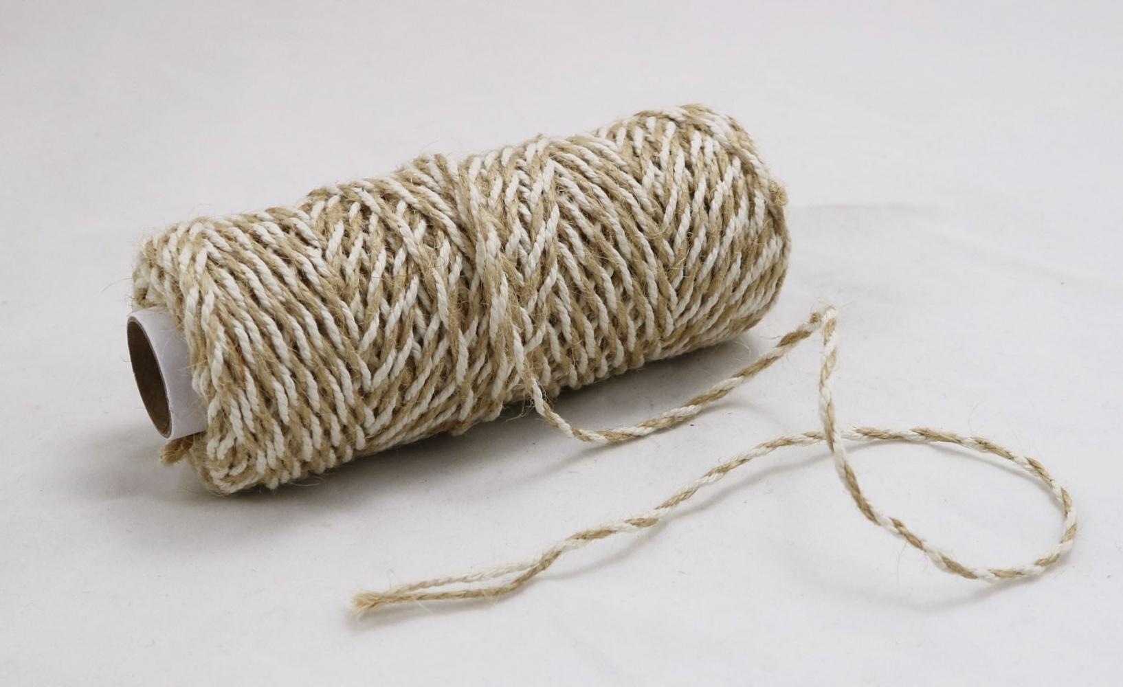 Шнур джут-бавовна натуральний-білий, 50 метрів - 2