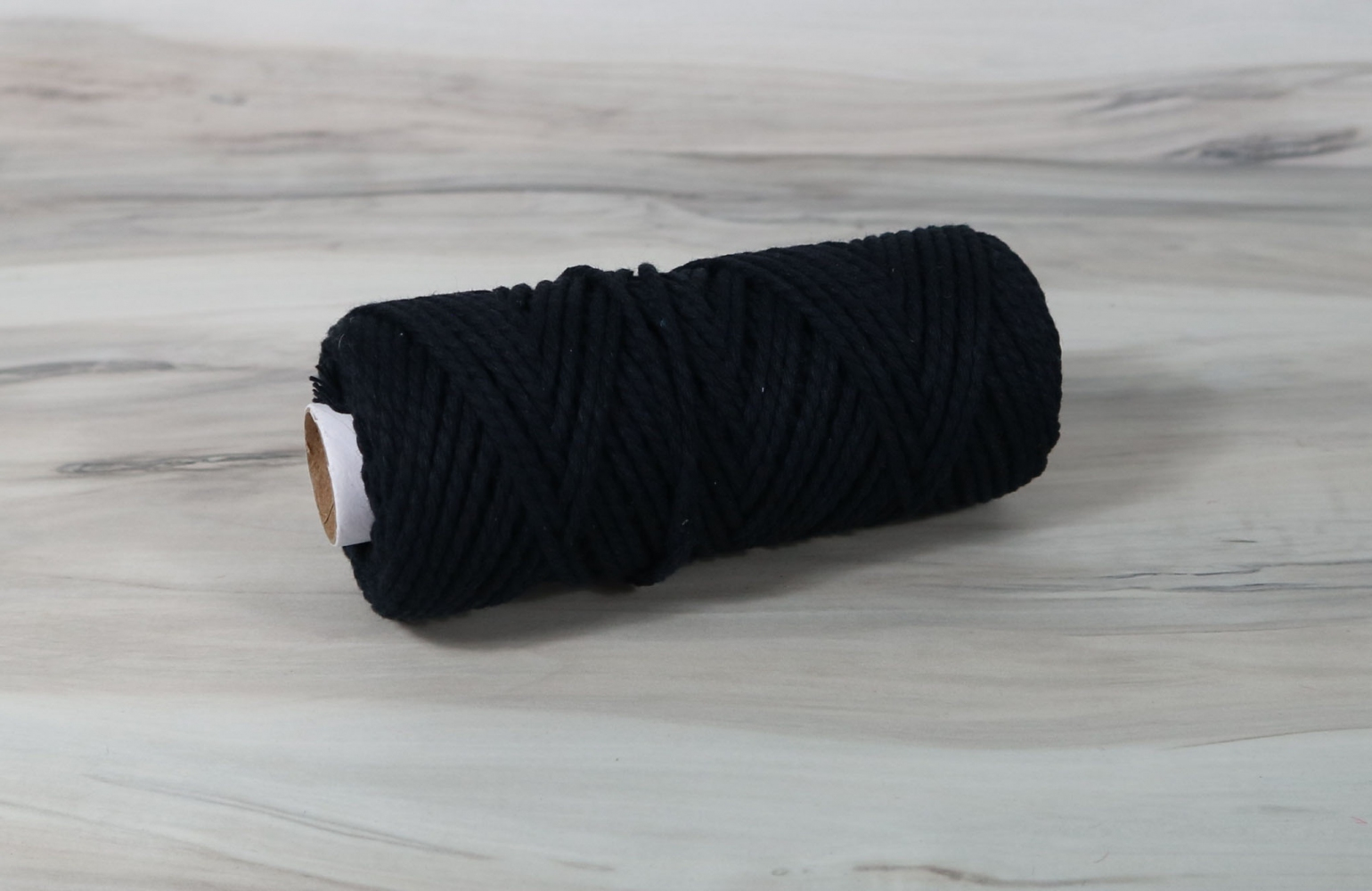 Cotton cord black, 50 meters - 1