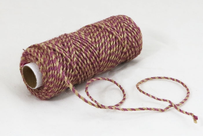 Jute cord natural-purple, 50 meters - 1