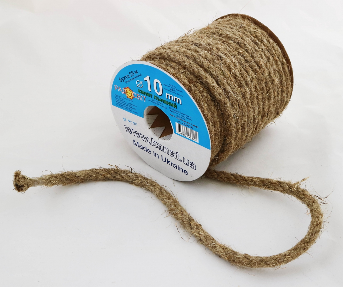 Linen rope Ø 10mm, 25 meters - 2