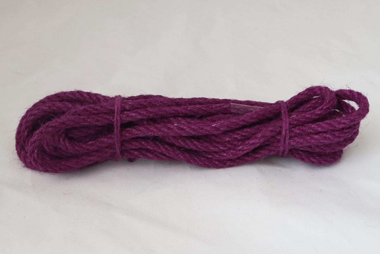 Канат джутовий фіолетовий Радосвіт, діаметр 6мм, моток 5 метрів - 1