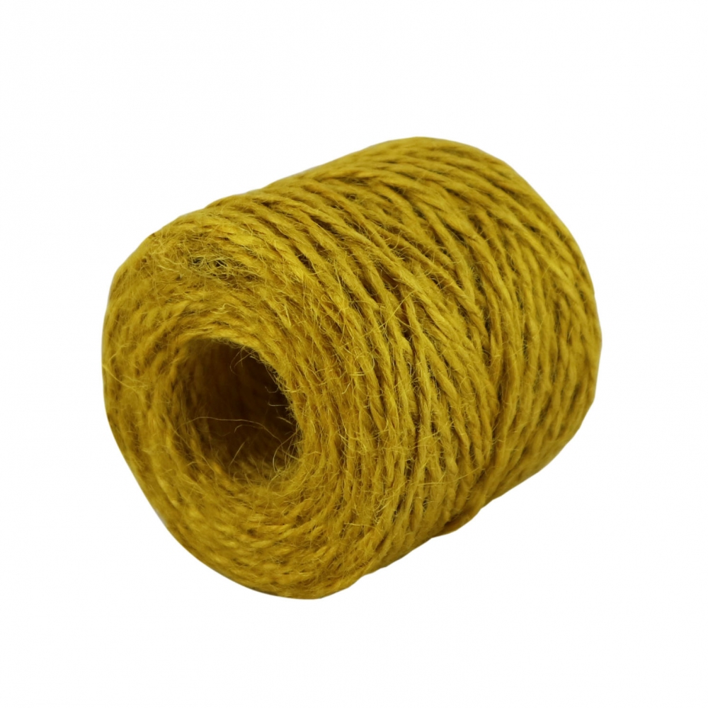 Jute twine in yellow color, 45 meters - 1