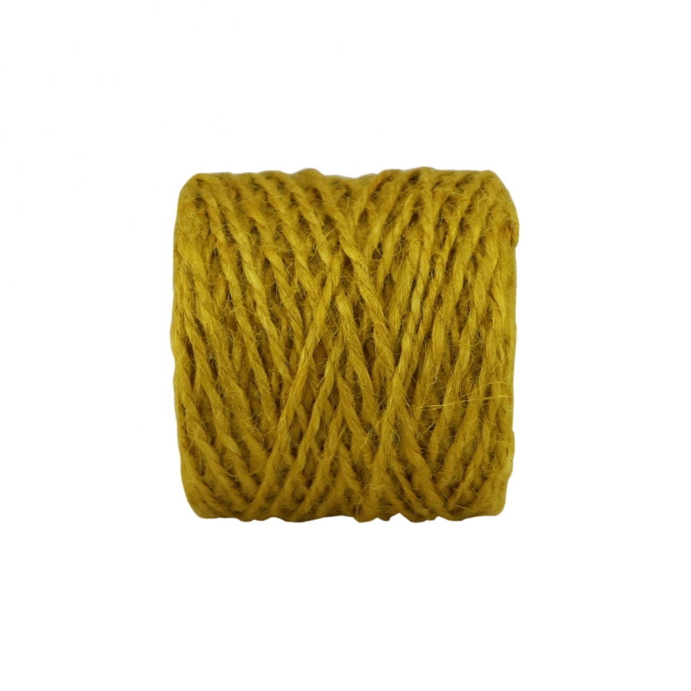 Jute twine in yellow color, 45 meters - 2