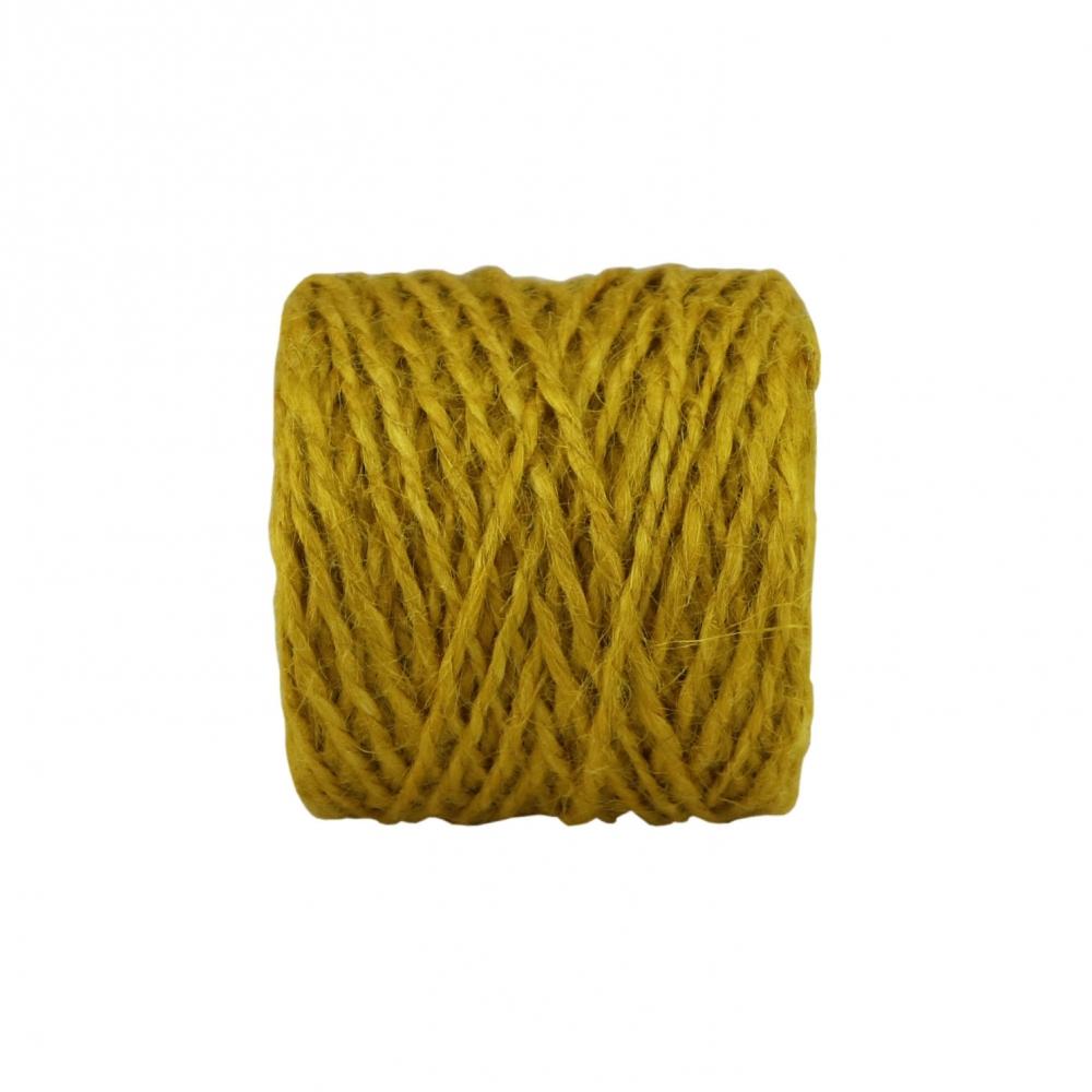 Шпагат джутовий жовтий, 45 метрів - 2