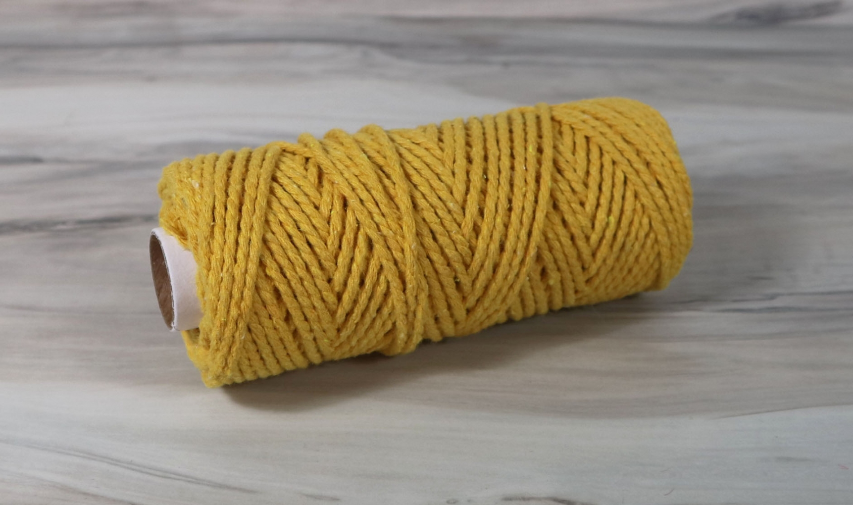 Шнур бавовняний жовтий, 50 метрів - 1