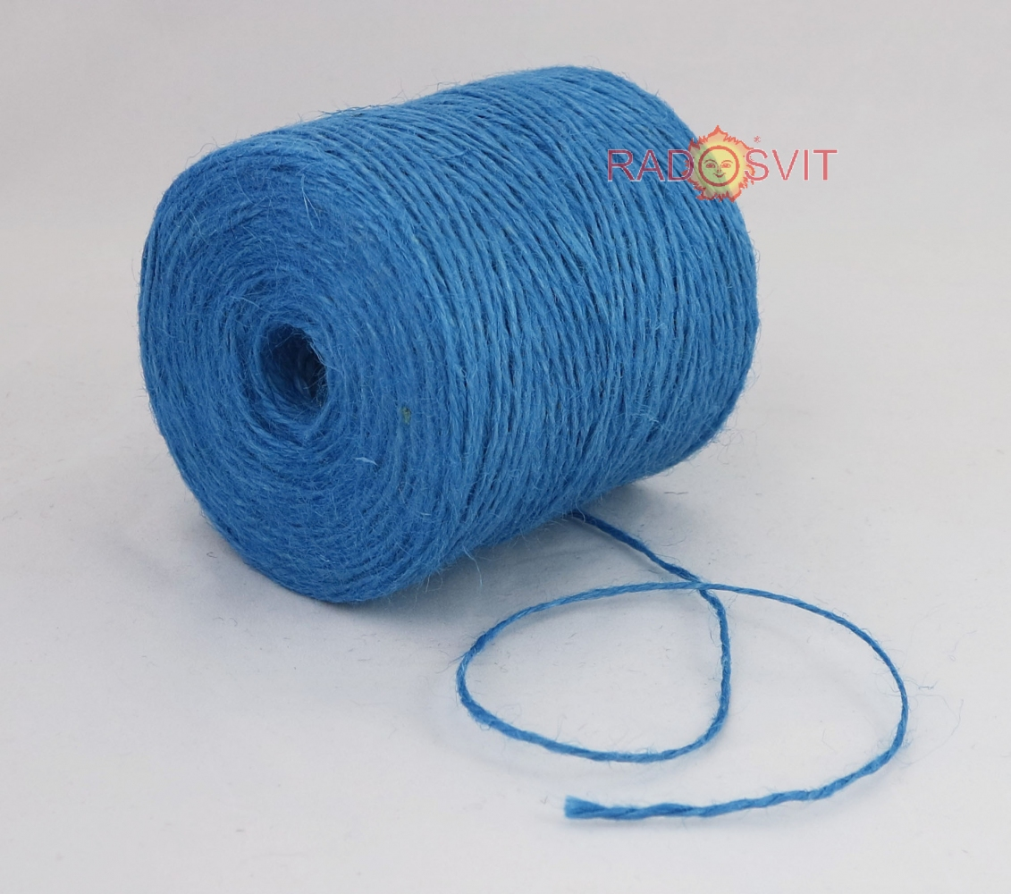Jute twine light blue, 350 meters - 2