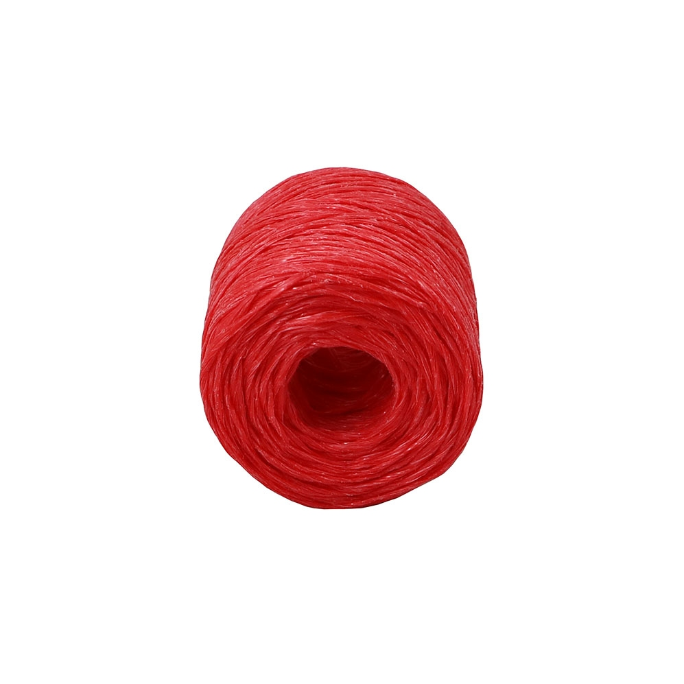 Polypropylene twine red, 100 meters - 2