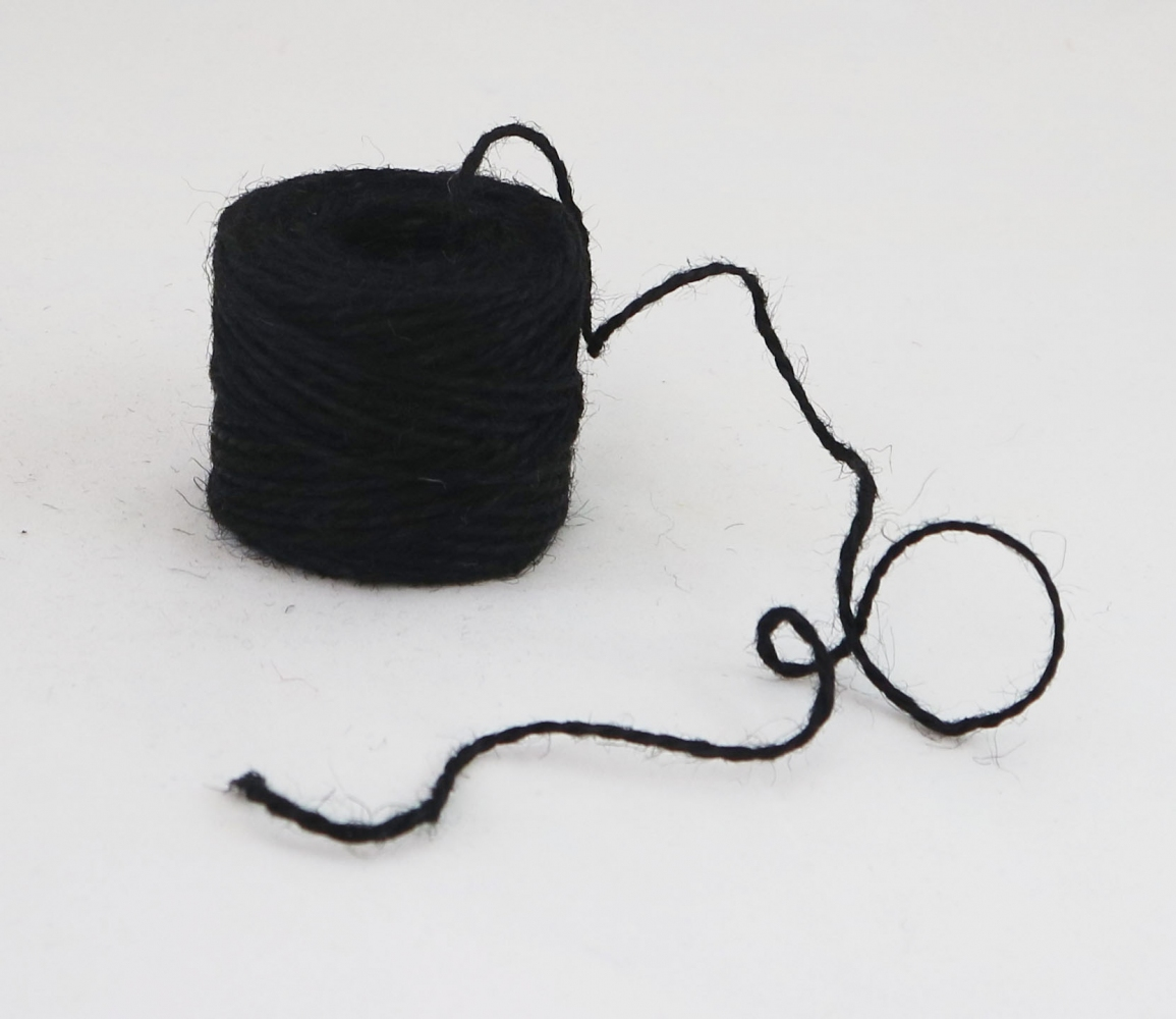 Jute twine in black color, 45 meters - 2