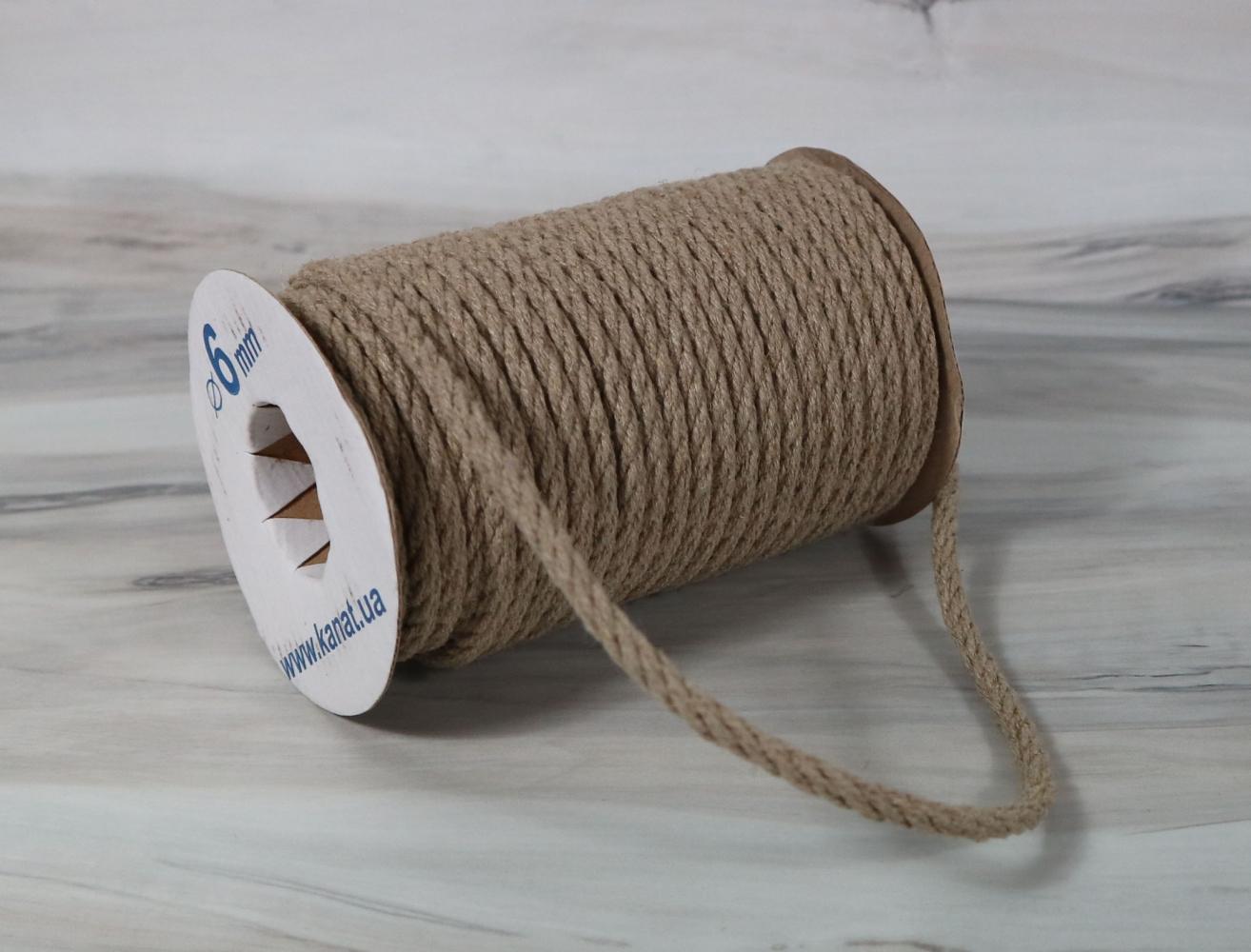 Linen rope diameter 6mm length 25 meters - 2