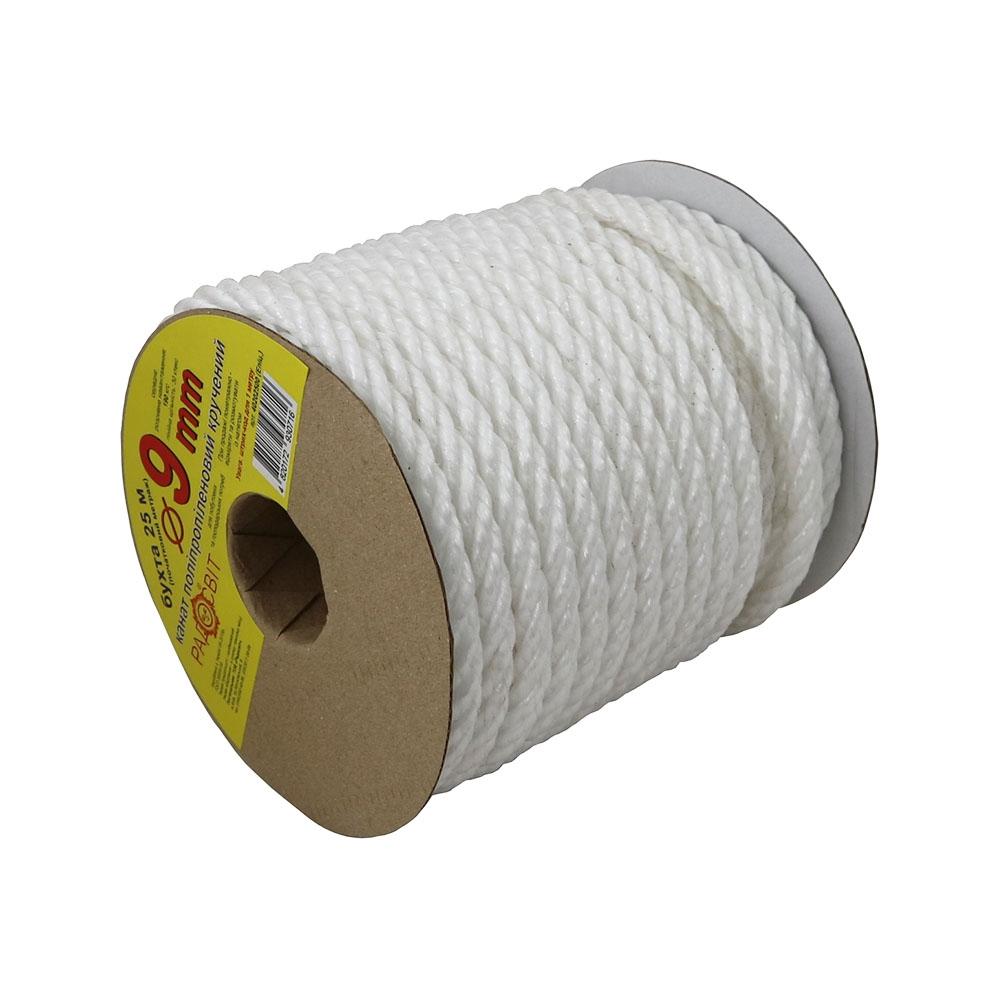 Polypropylene rope 9mm white, 25 meters - 1