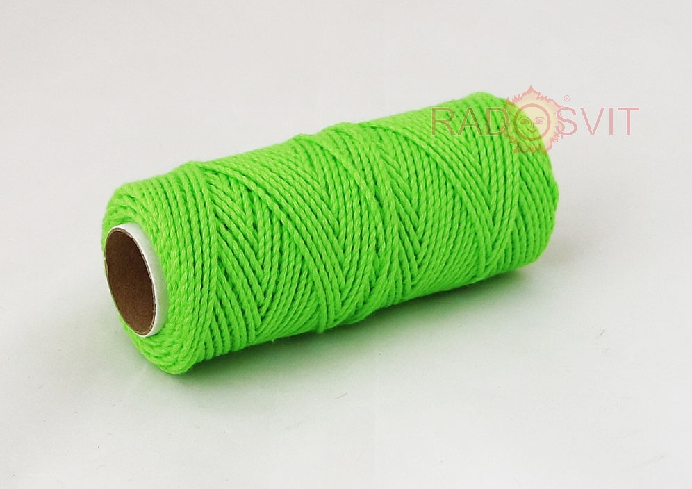 Cotton twine, green, 45 meters - 2