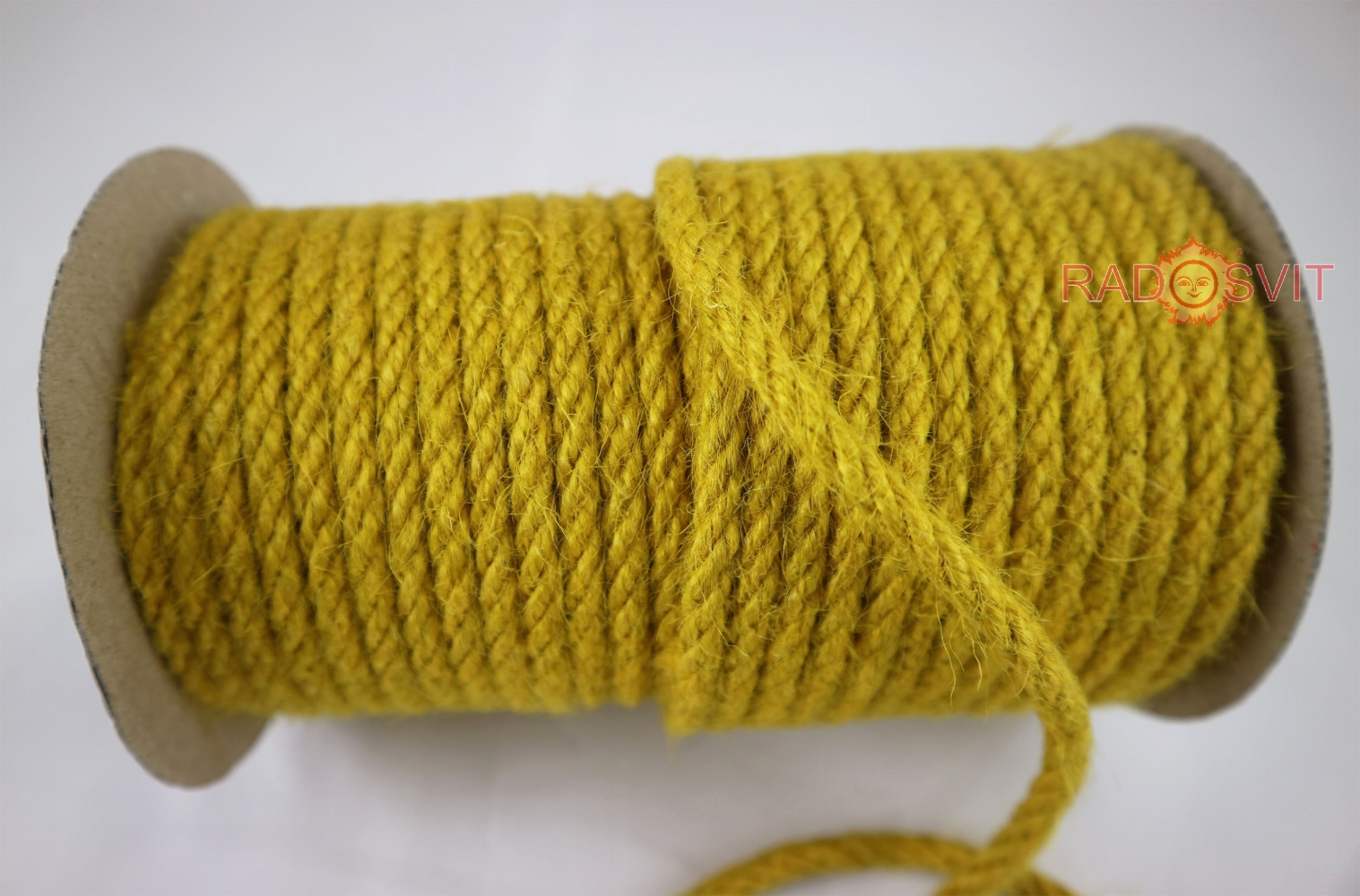 Jute rope in yellow color, diameter 6 mm, 25 meters - 2