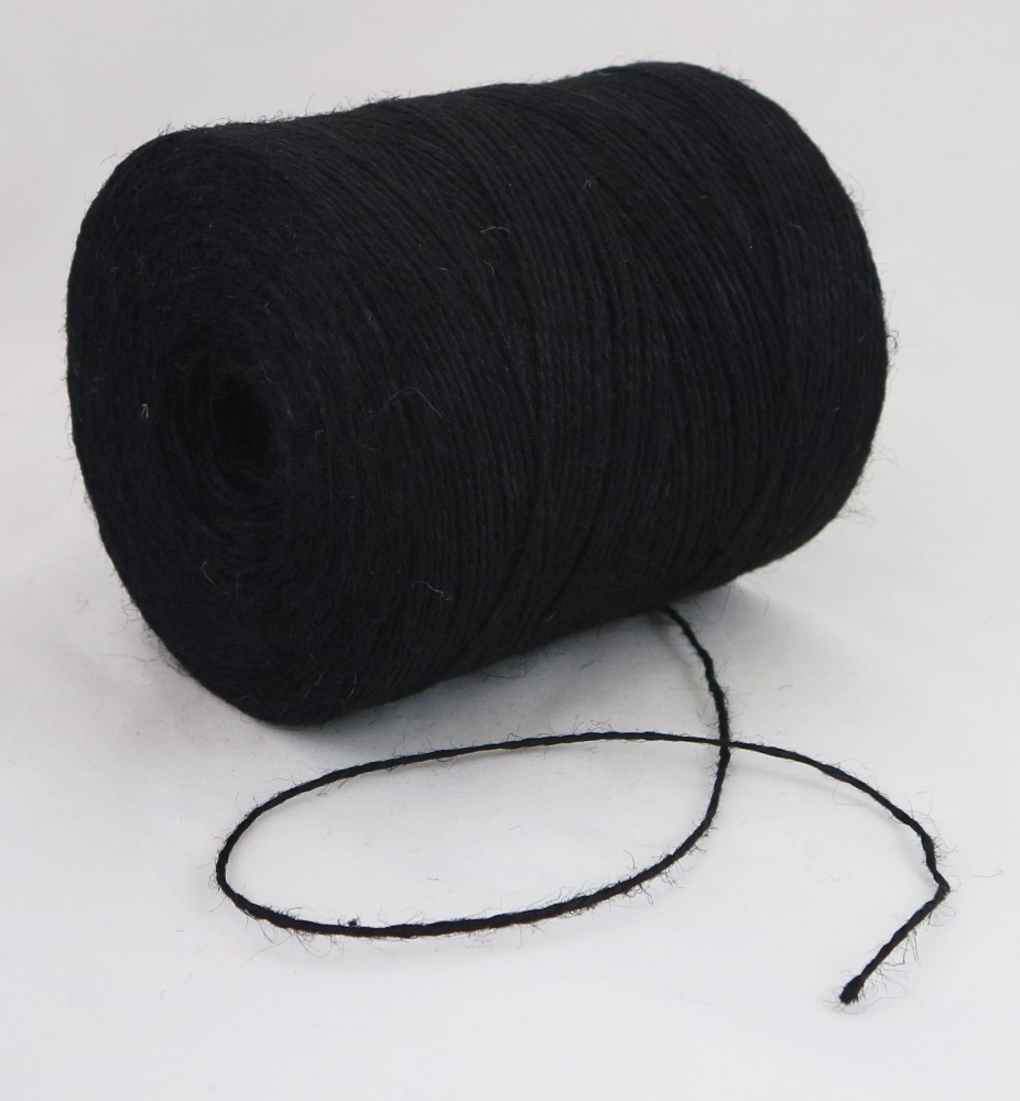 Jute twine in black color, 760 meters - 1