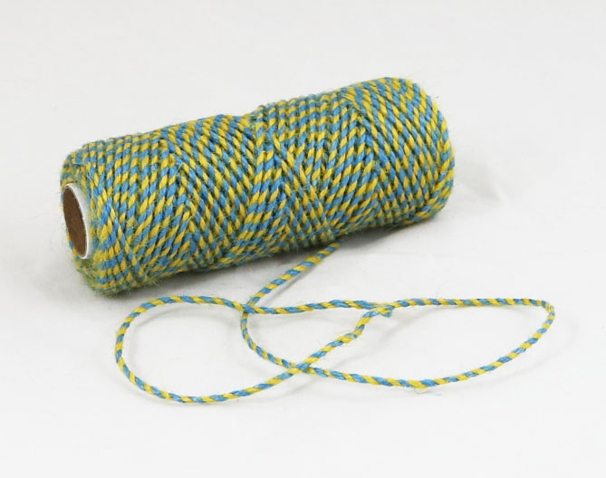 Jute cord yellow-blue, 50 meters - 1