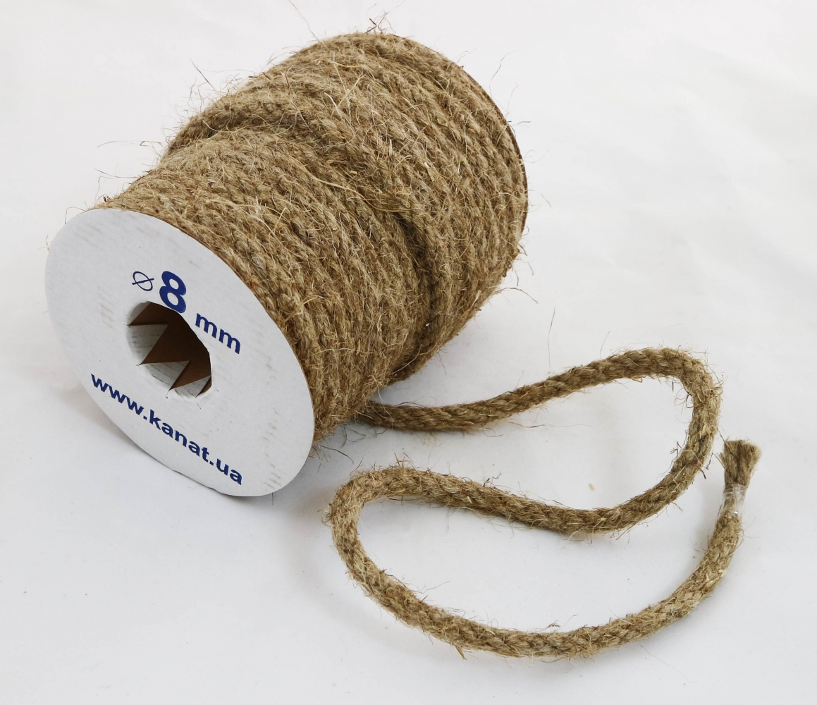 Linen rope Ø 8mm, 25 meters - 1